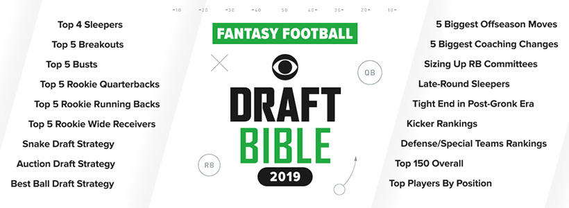 Download SportsLine's 2019 Fantasy football draft bible