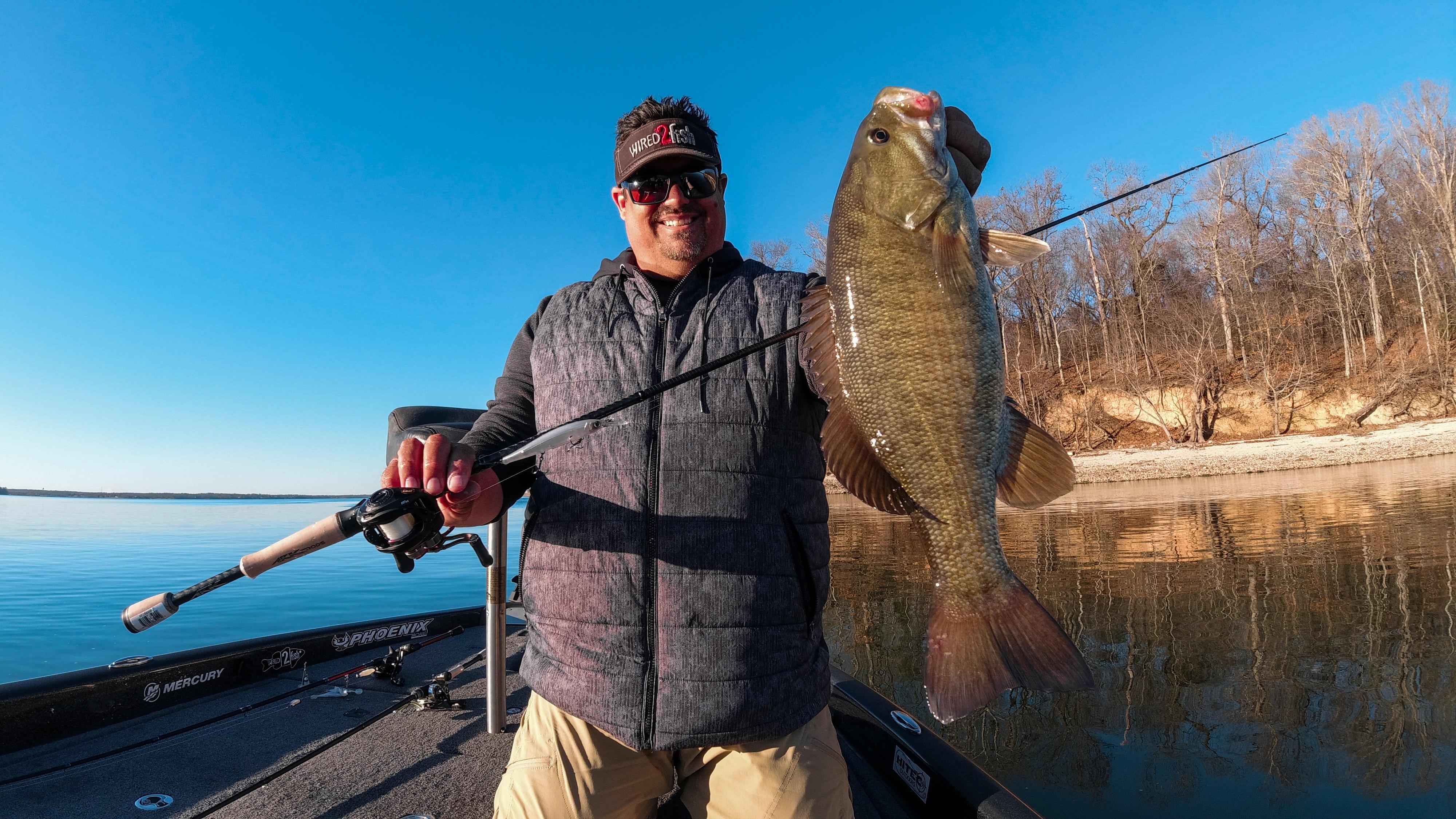 Jason big smallmouth bass on jerkbait