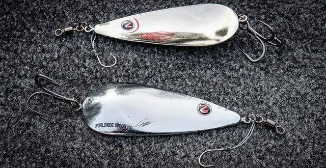 River2Sea Worldwide Spoon 5 inch 2 oz Fishing Spoon Bass /& Trout Fishing Lure
