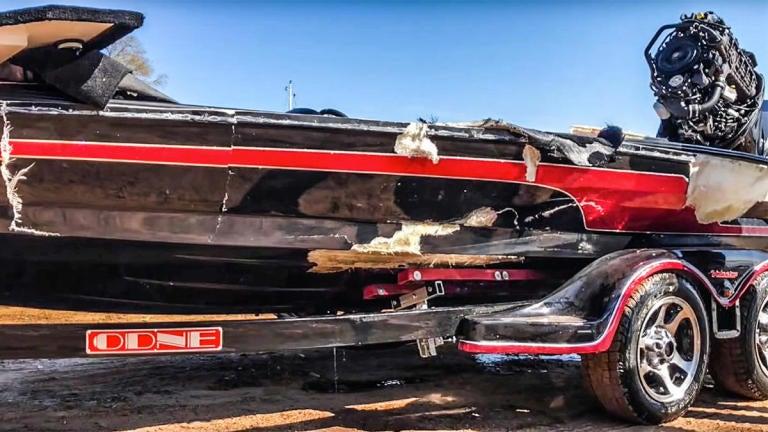 video bass boat crashes at 102 mph