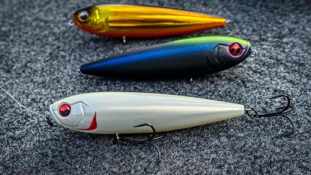 Greenie 13 Fishing Dual Pitch 94 1//2 oz Topwater Pencil Bass Lure